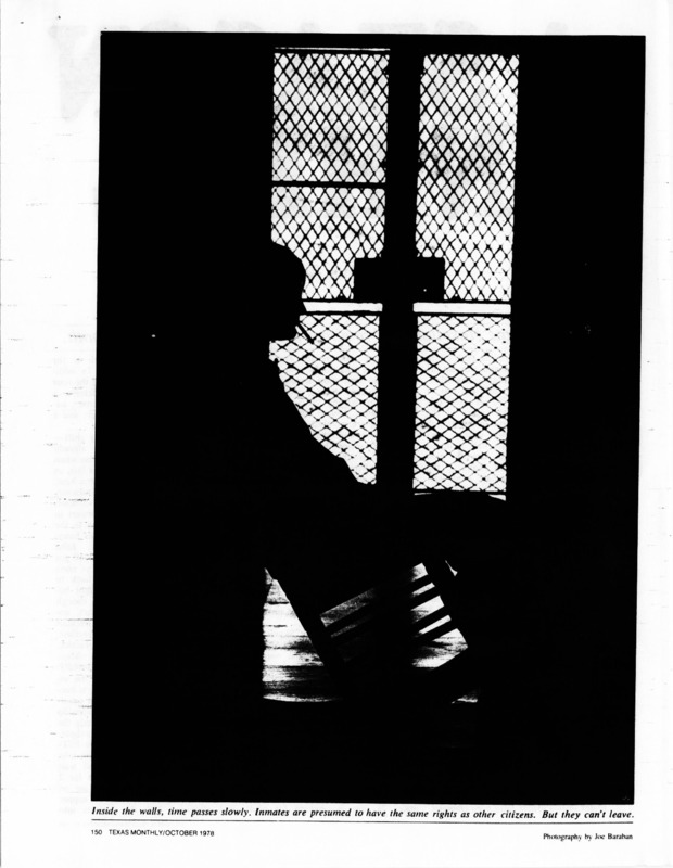 Dick Reavis poses as an attendent at Rusk State Hospital to report what he sees.
