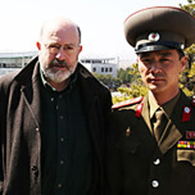 Panorama reporter John Sweeney photographed with North Korean general