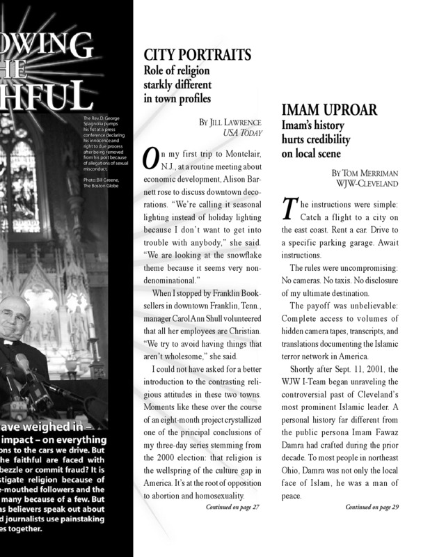 article about the role of different religious roles