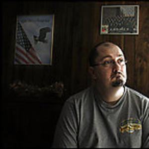 """An image of Troy Turner accompanying Anne Hull and Dana Priest's Washington Post article, """"VA Doubles Disability Aid for Iraq War Veteran."""""""