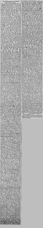 """The Age article titled, """"The Queensland Slave Trade."""" Written by George Morrison."""
