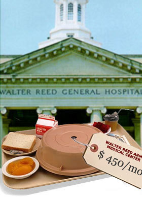 """Photo of a Walter Reed General Hospital referenced in Mark Benjamin's article titled, """"Walter Reed Army Medical Center: Insult to Injury."""" Written for Salon.com."""