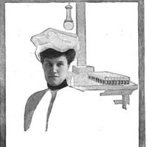 """Image of Bessie van Vorst posing undercover for her article, """"The Woman That Toils."""""""