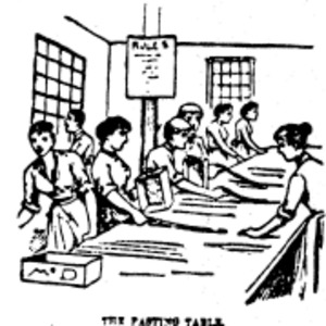 Image of girls working in a factory.