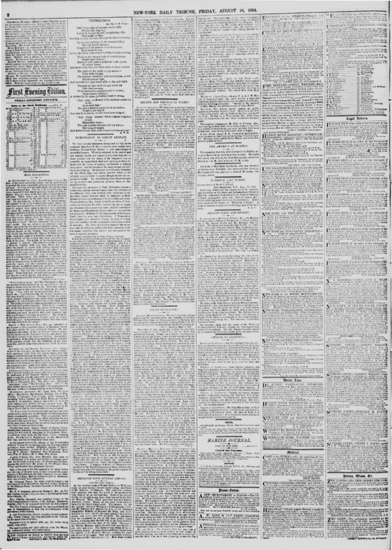 """Part two of James Redpath's """"Facts of Slavery."""" Published in the New York Tribune."""