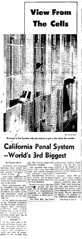 An overview of the California prison system, which, at the time was the world's 3rd largest after China and the Soviet Union.