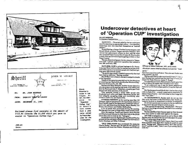 """The undercover investigation """"Operation CUP"""" was conducted by two sheriffs"""