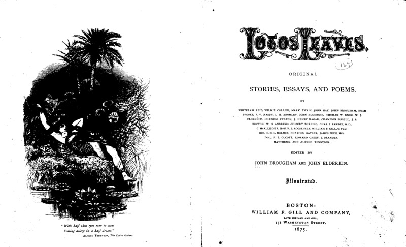 """An article titled, """"How We Hung John Brown."""" Written by Henry S. Olcott and published in """"Lotos Leaves."""""""