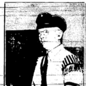"""Photo featured in James J. Metcalfe and John C. Metcalfe's article, """"Chicago Police 'with Us,' Ex G-Man hears Nazi Boast."""""""