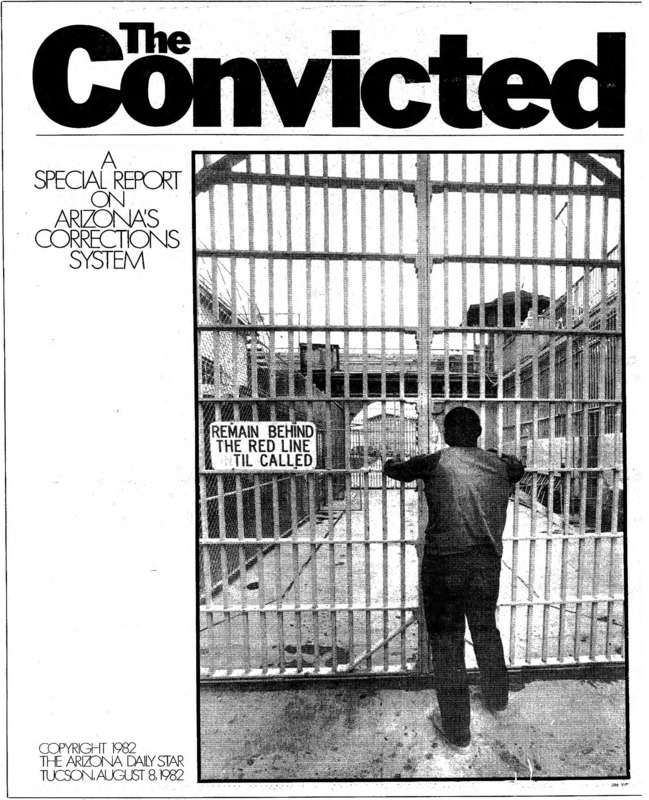 """The cover of a special report on Arizona's corrections system. Titled, """"The Convicted."""""""