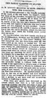 "New York Tribune article titled, ""The Tahiti Carried No Slaves."""