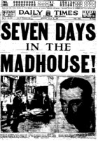 "Chicago Daily Times article titled, ""Reporter's Experience at Kankakee."" Written by Frank Smith as part of his series, ""Seven Days in the Madhouse!"""