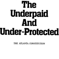 Introduction to the Atlanta Constitution's six-part series on Georgia's lowest wage earners. The facsimiles come from a reprint of the series.